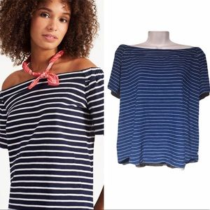 Joules Striped Off Shoulder Top 6